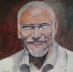 Porträtskizze (Acryl) 2006 durch K. F. Gehse, Architekt und Maler (1938 - 2017)